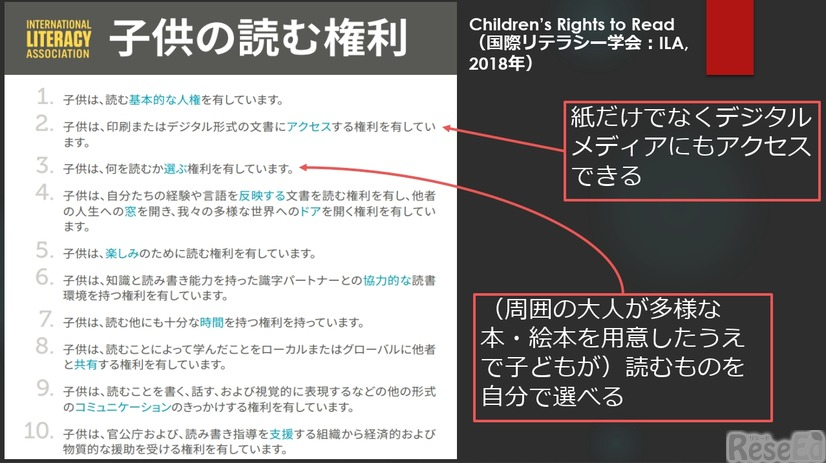 「Children's Rights to Read(子どもの読む権利)」