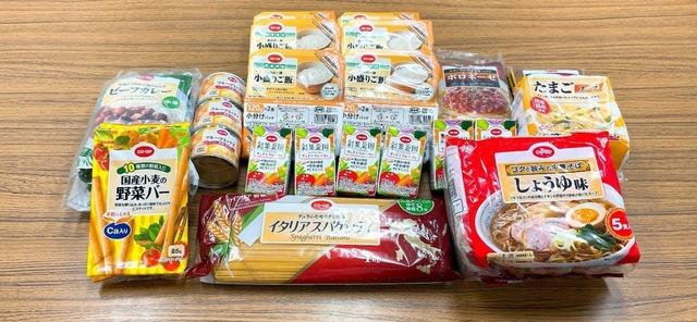 食料支援で提供予定の食材