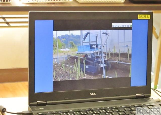 農業が自動化されているようすを動画で視聴