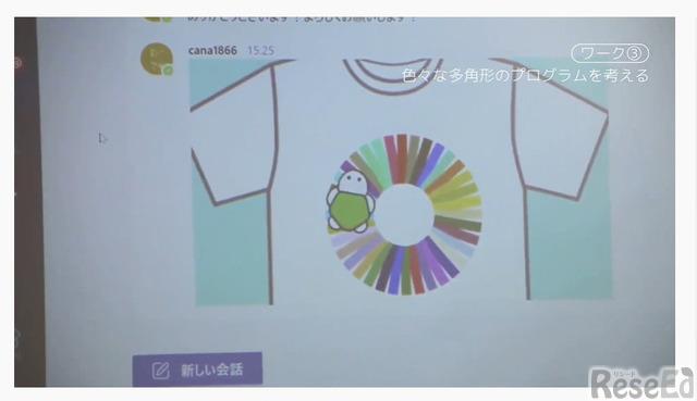 児童が期せずしてSDGsの色に類似したデザインを作成