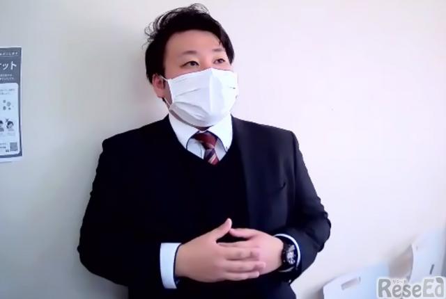 記者からの取材に応じる浦和ルーテル学院中学校・田村海渡氏