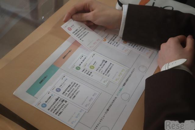 「情報防災訓練」情報カード、生徒用ワークシート(一部)