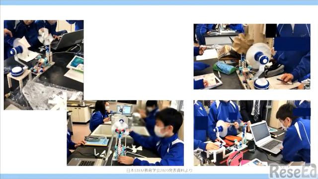 宮城教育大学附属中学校での実践授業